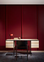 Contemporary secretary desk / wooden / metal