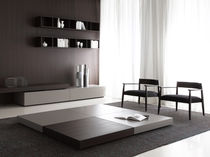 Contemporary coffee table / wooden / rectangular / square