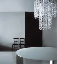 Original design chandelier / glass / incandescent / by Piero Lissoni