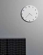 Contemporary clock / analog / wall-mounted / metal