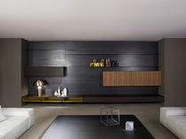 Contemporary TV wall unit / wooden / by Piero Lissoni