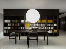 Contemporary TV wall unit / wooden / lacquered wood / by Piero Lissoni