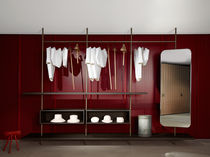 Modular walk-in wardrobe / contemporary / wooden / metal