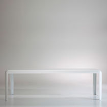 Contemporary table / sheet metal / rectangular / square