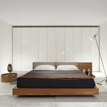 Double bed / contemporary / wooden / for hotel rooms