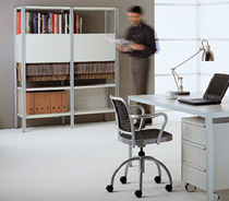 Contemporary shelf / metal / commercial / for offices