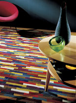 Contemporary rug / wool / patterned