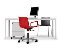 Office chair / contemporary / on casters / with armrests