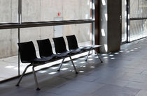 Contemporary beam chairs / metal / 4-seater / indoor
