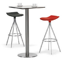High bar table / contemporary / stainless steel / PVC