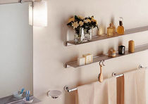 Wall-mounted shelf / contemporary / metal / for bathrooms