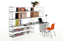 Contemporary shelf / metal / wood / for professional use
