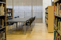 Work table / contemporary / metal / library