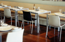 Contemporary table / metal / for restaurants