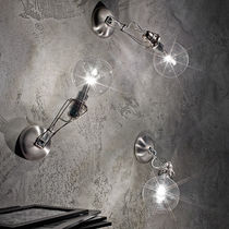 Contemporary wall light / steel / stainless steel / halogen