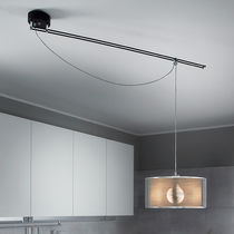 Pendant lamp / contemporary / steel / fabric
