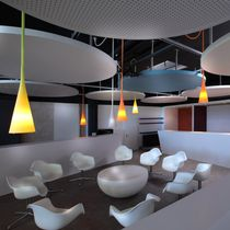 Pendant lamp / contemporary / outdoor / polycarbonate
