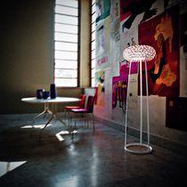 Floor-standing lamp / original design / blown glass / methacrylate
