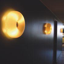 Contemporary wall light / blown glass / LED / halogen