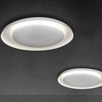 Contemporary ceiling light / round / polycarbonate / LED