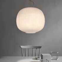 Pendant lamp / contemporary / blown glass / halogen