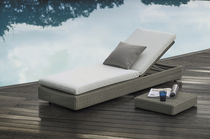Contemporary sun lounger / fabric / aluminum / synthetic fiber