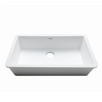 Single-bowl kitchen sink / Krion® / commercial
