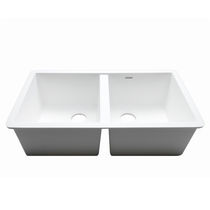 Double kitchen sink / Krion® / commercial