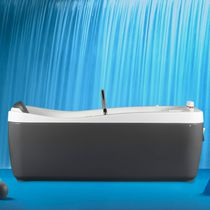 Free-standing bathtub / acrylic / thermal / hydromassage