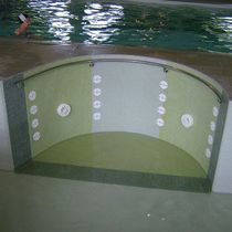 Hydromassage system / for swimming pools