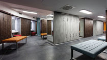 Melamine locker / for public buildings / for sports facilities / for wellness centers
