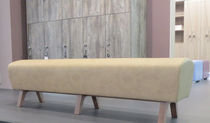 Contemporary bench / synthetic leather