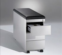 Steel office unit / leather / 3-drawer / 2-drawer