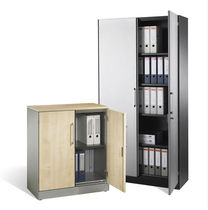 Low filing cabinet / tall / wooden / steel