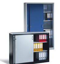 Low filing cabinet / tall / steel / contemporary