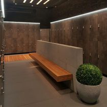Wooden locker / for sports facilities / for wellness centers / for wet rooms
