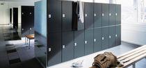 Steel locker / for public buildings / for sports facilities