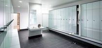 Glass locker / for public buildings / for sports facilities