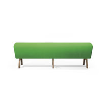 Contemporary upholstered bench / wooden / synthetic leather / for public buildings