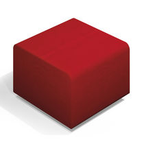Contemporary pouf / synthetic leather / square / for public buildings