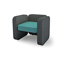 Contemporary armchair / fabric / for public buildings