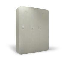 Wooden locker / for public buildings / for wellness centers