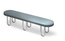 Public bench / original design / wooden / residential