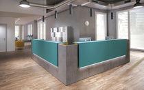 Corner reception desk / wooden