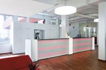 Wooden reception desk / illuminated