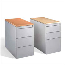 Steel office unit / wooden / 3-drawer / 2-drawer