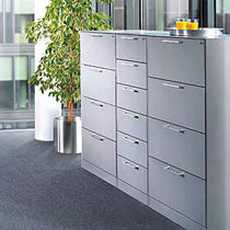 Low filing cabinet / steel / with drawers / contemporary