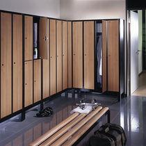 Steel locker / for public buildings / with open coat rack / vandal-proof