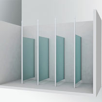 Fixed partition / glass / sanitary