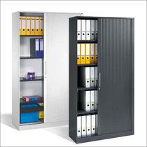 Tall filing cabinet / steel / tambour door / contemporary